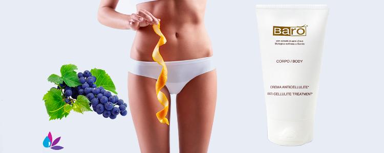 L'ingrédient actif dans le forum Crème Baro Anticellulite avec des raisins Barolo