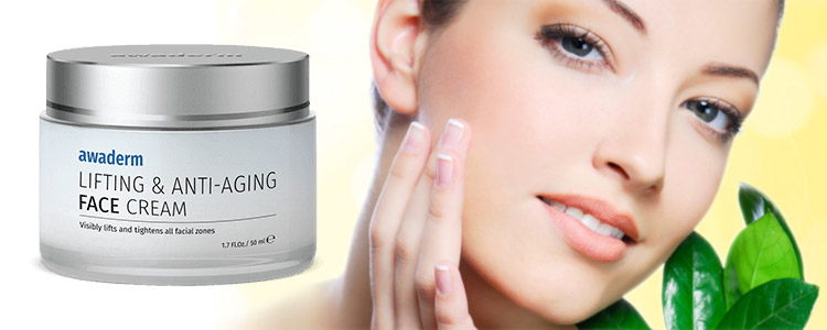 Awaderm Lifting & Anti-Aging Face Cream - ingrédients naturels, action rapide