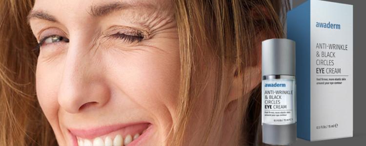 Essayez de Awaderm eyes cream, pour se débarrasser des rides à la fin des yeux