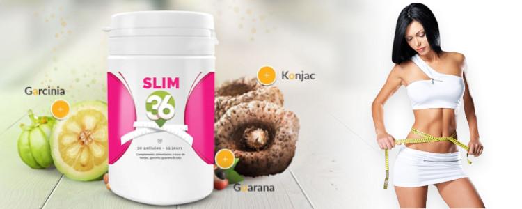 Quels sont les ingrédients du Slim36 enpharmacie supplément minceur?